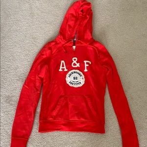 Red A&F hoodie